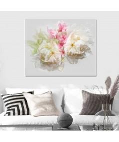 Obrazy kwiaty - Obraz na ścianę Piwonie (1-częściowy) szeroki