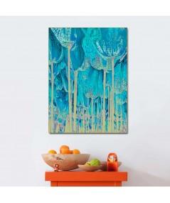 Obrazy plakaty na ścianę Obraz turkusowy Tulipany drzewa