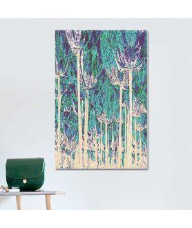 Obrazy plakaty na ścianę Nowoczesna grafika Tulipany las