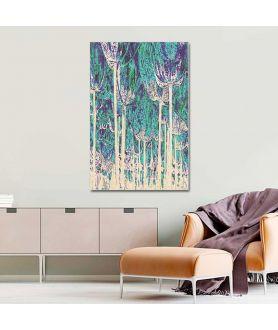 Nowoczesna grafika Tulipany las (1-częściowy) pionowy