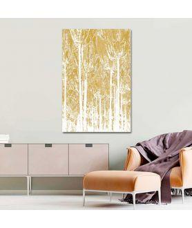 Obraz na płótnie Obrazek na ścianę Złoty las (1-częściowy) pionowy