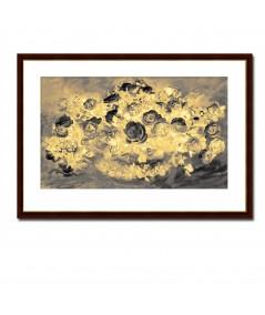 Obraz na płótnie Obraz retro Róże złote, obrazy na płótnie