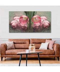 Obraz na płótnie Kwiaty w malarstwie renaty bułkszas nowak Tulipany czerwone