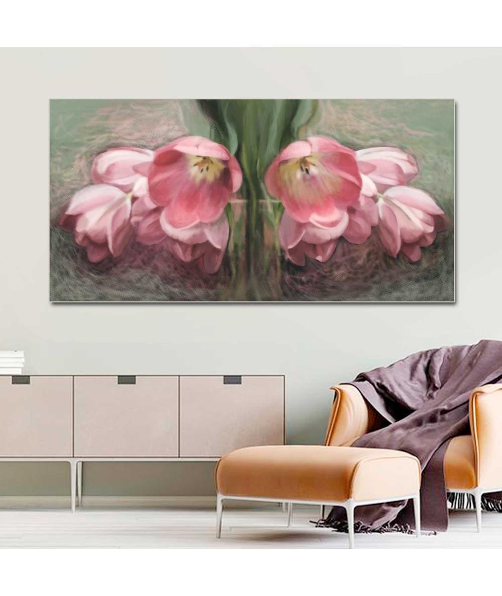Kwiaty Tulipany czerwone obraz do salonu