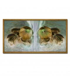 Obraz na płótnie Obraz brązowe kwiaty Złote tulipany