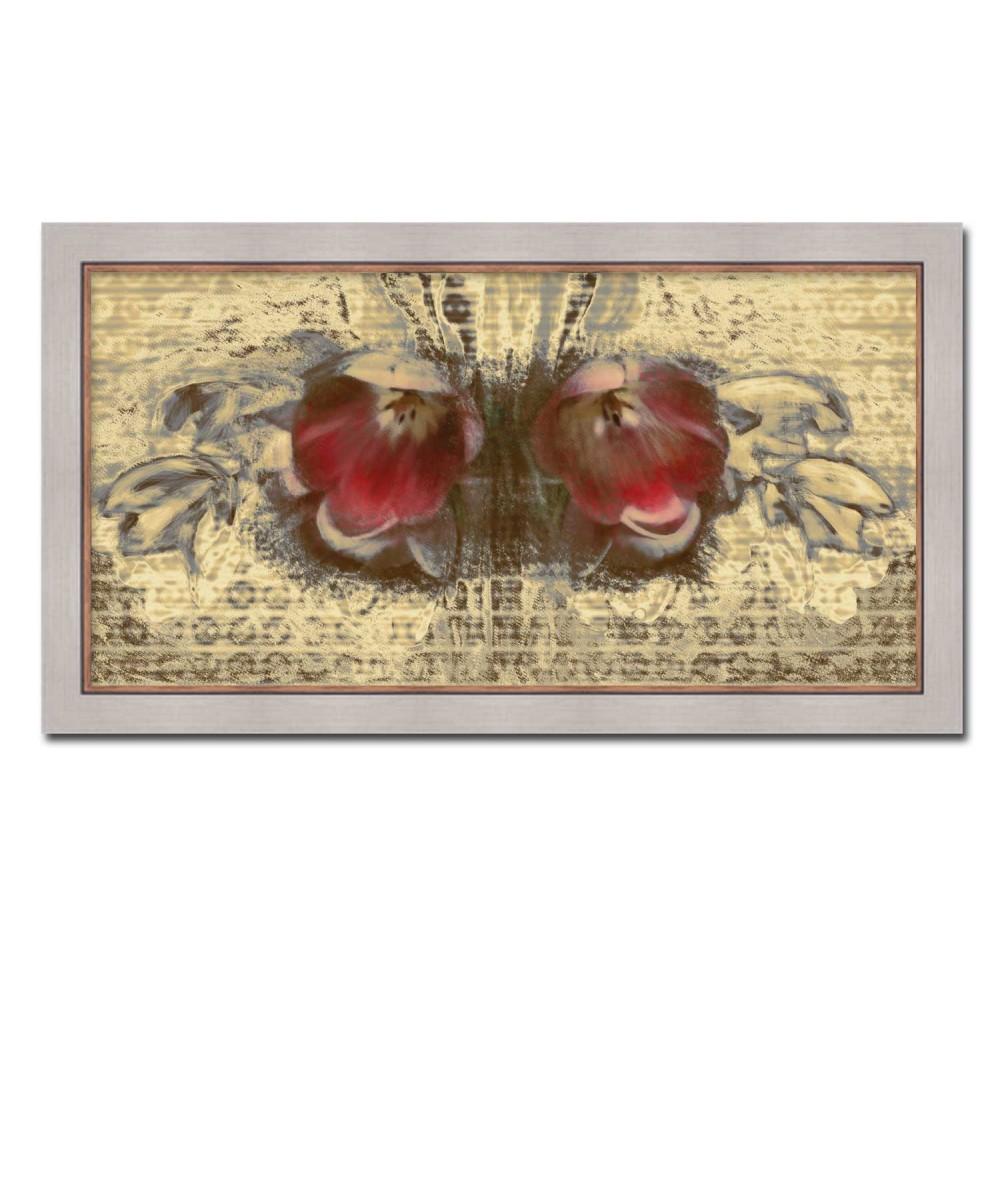 Obrazy plakaty na ścianę Kwiaty Wiosenny motyl