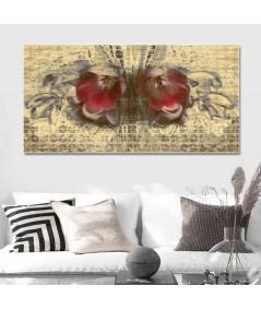 Obraz na płótnie Nowoczesny obraz wąski Wiosenny motyl (1-częściowy)