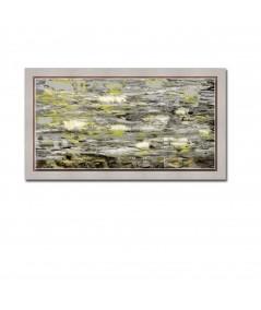 Nowoczesny obraz plakat Obraz pejzaż Nenufary kwiaty lata