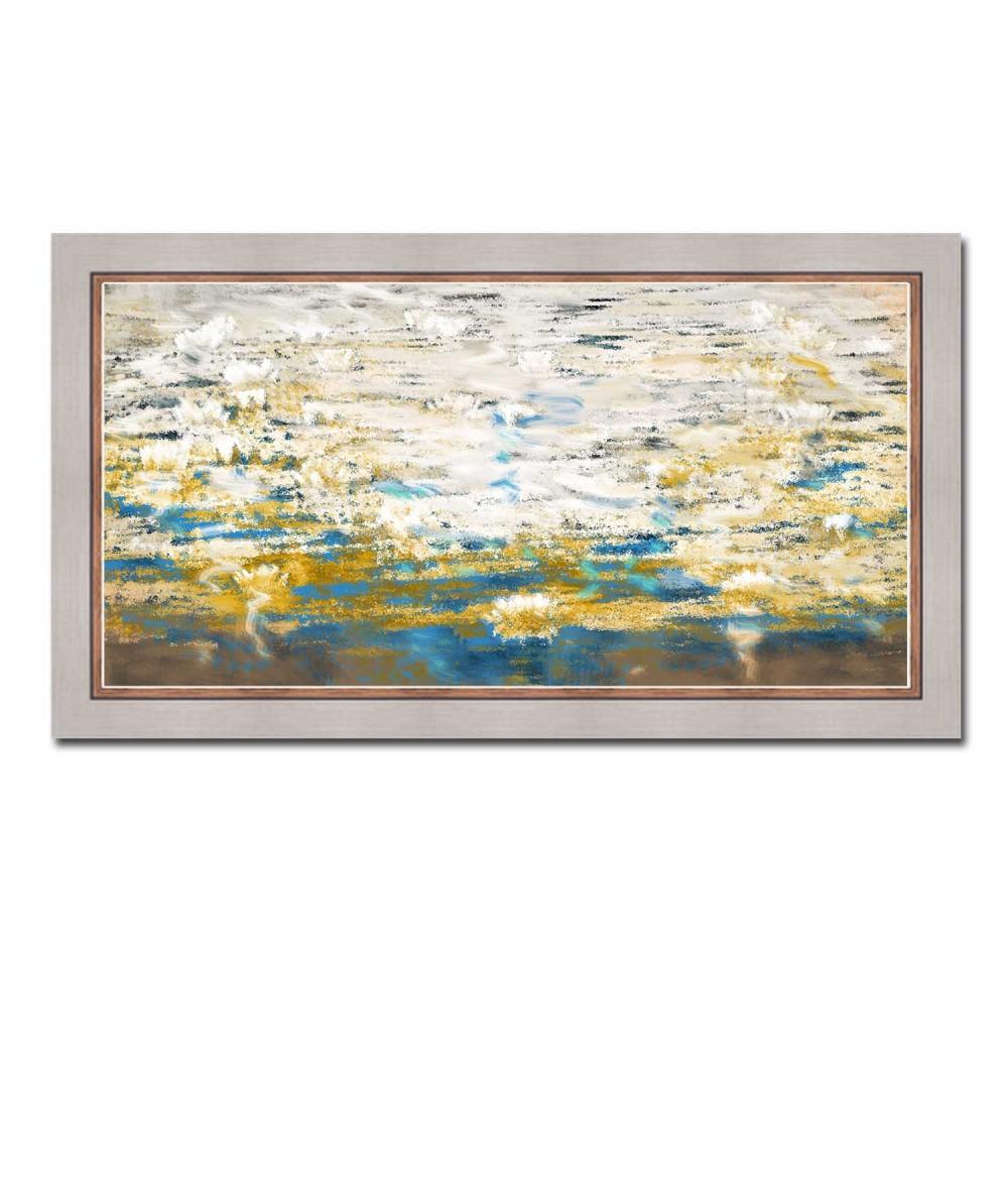 Obrazy pejzaże - Obraz biały z widokiem Białe nenufary