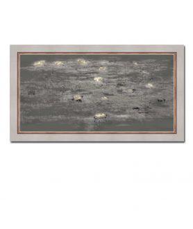 Nowoczesny obraz plakat Obraz noc Nocny pejzaż z liliami