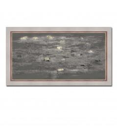Obraz noc Nocny pejzaż z liliami (1-częściowy) wąski