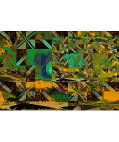 Obraz na płótnie Obraz zielony Geometryczna harmonia