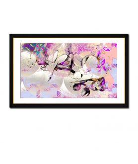 Obraz na płótnie Kwiaty obraz Storczyki i wzory