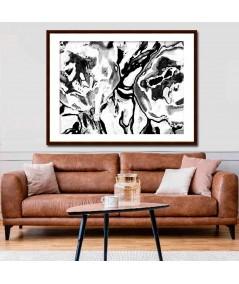 Dekoracja ścienna Grafika Czarno białe kwiaty