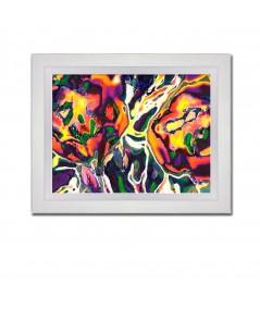 Obraz na płótnie Obraz na ścianę nowoczesny Folkowe kwiaty
