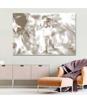 Dekoracja do salonu Grafika rodzina