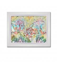 Obraz na płótnie Grafika obraz do sypialni Jesienne drzewa (1-częściowy) szeroki