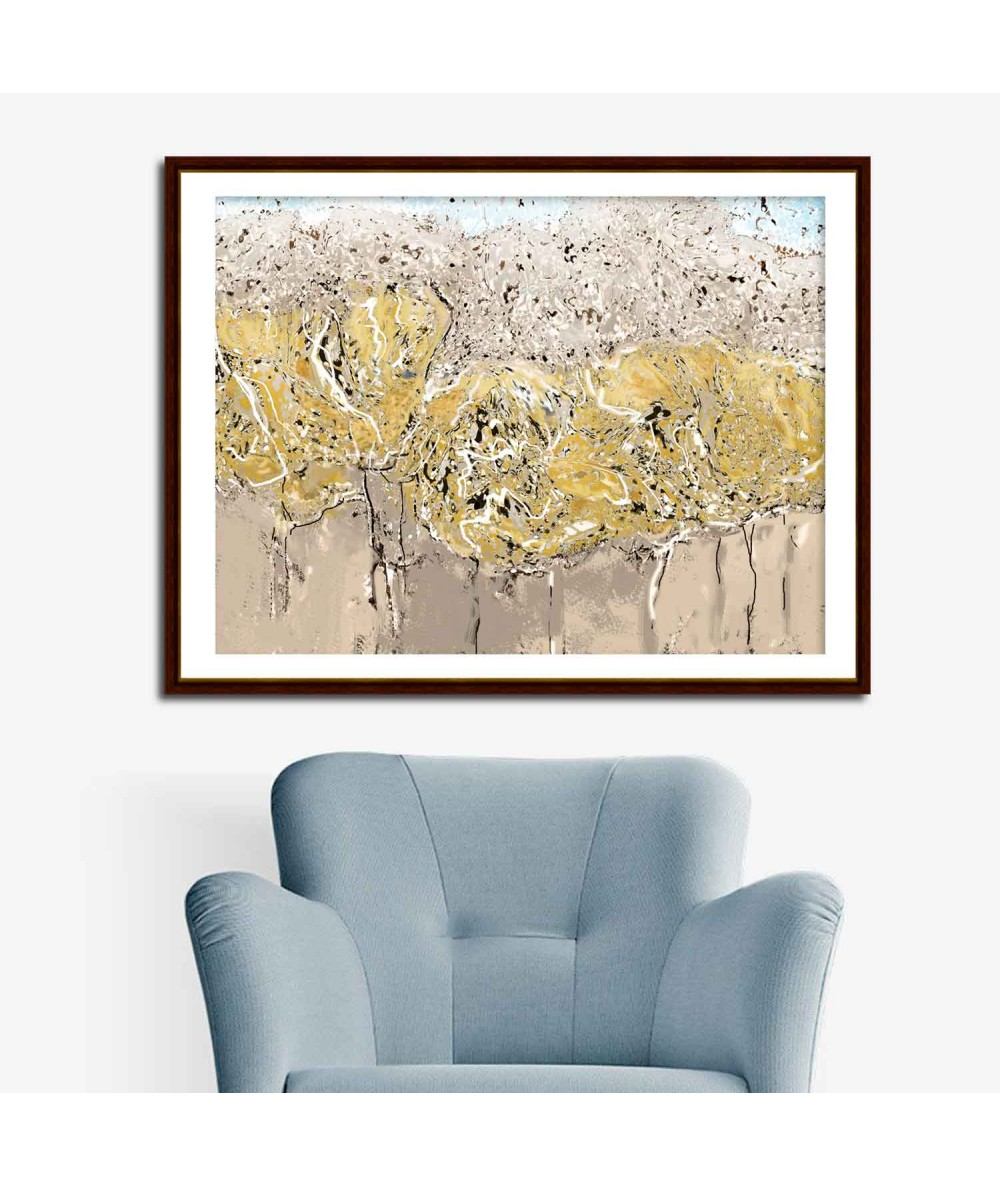 Obraz plakat Złota jesień wąski