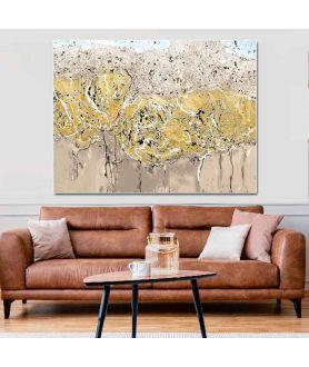 Obraz na płótnie Obraz dzikie kwiaty Złota jesień (1-częściowy) szeroki
