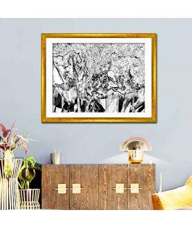 Obraz na płótnie Obraz czarno biały nowoczesny Las czarno biały