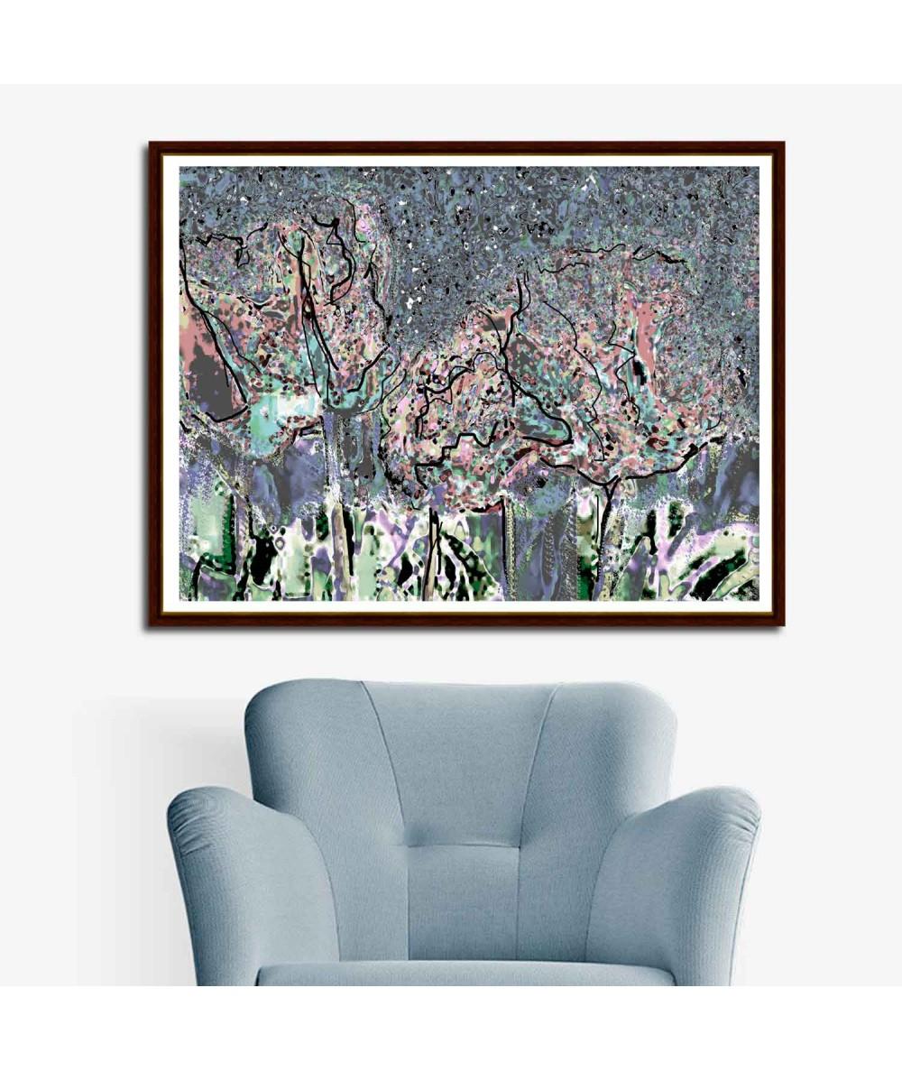 Nowoczesny obraz plakat Krajobraz Romantyczna noc