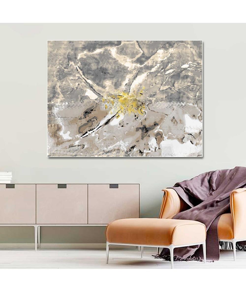 Obrazy abstrakcyjne - Abstrakcyjny obraz Akwarela kwiaty (1-częściowy) szeroki