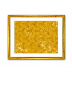 Obraz na płótnie Abstrakcja na canvasie Złote sześciokąty