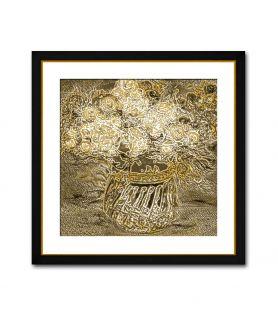Dekoracja do salonu Brązowy obraz kwiaty