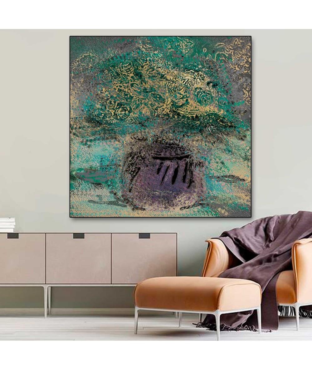 Obraz na płótnie Obraz kwiaty w wazonie Wazon fioletowy