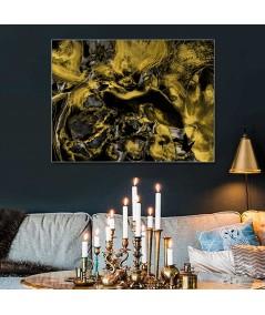 Obraz na płótnie Obraz abstrakcja Złoty kadr (1-częściowy) szeroki