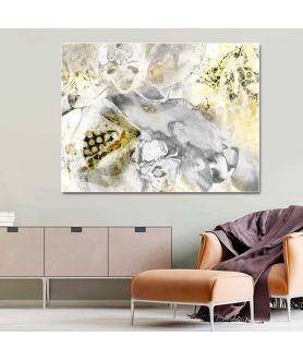 Obraz szary Błyszcząca abstrakcja, nowoczesny obraz