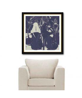 Obraz na płótnie Granatowe szpilki