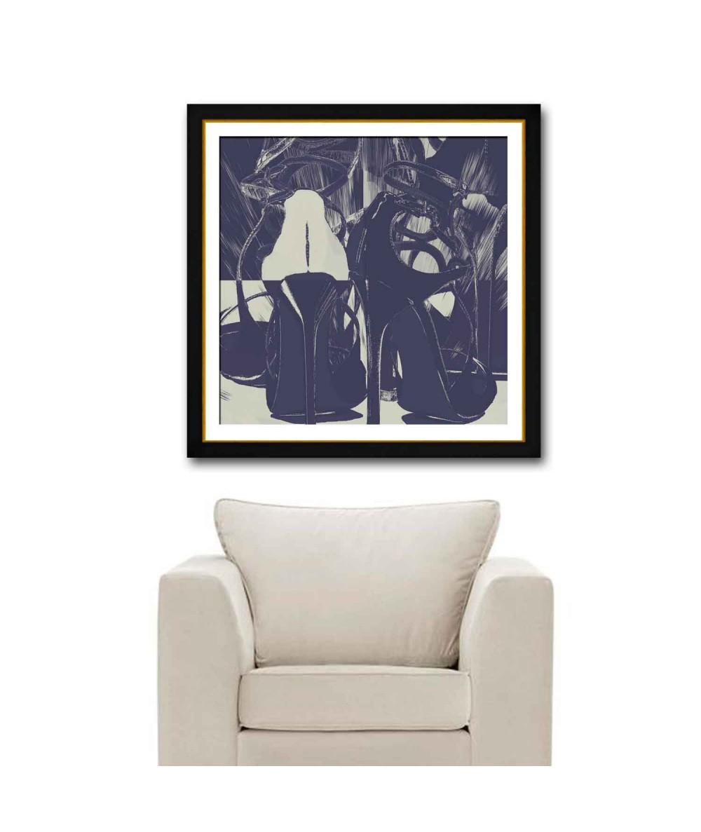 Współczesny obraz plakat Granatowe szpilki