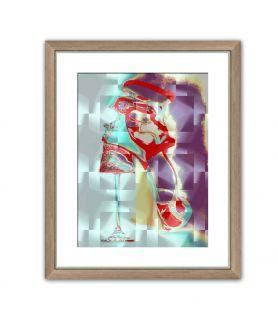 Obraz na płótnie Szkło i kobieta