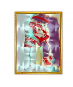 Obraz plakat nowoczesny Szkło i kobieta
