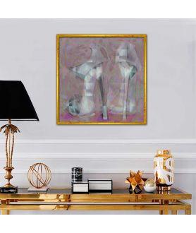 Współczesny obraz plakat Szpilki lawenda