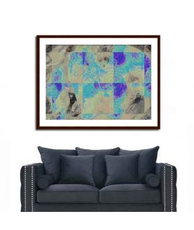 Obraz na płótnie Obraz Abstrakcja geometryczna (1-częściowy) szeroki