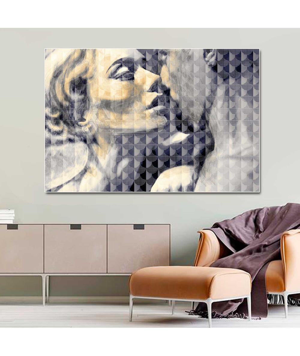 Dekoracja na ścianę Obraz pocałunek Miłość
