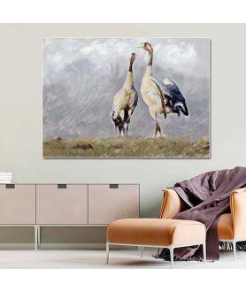 Obraz na płótnie Obraz Żurawie, obrazy widoki krajobrazy