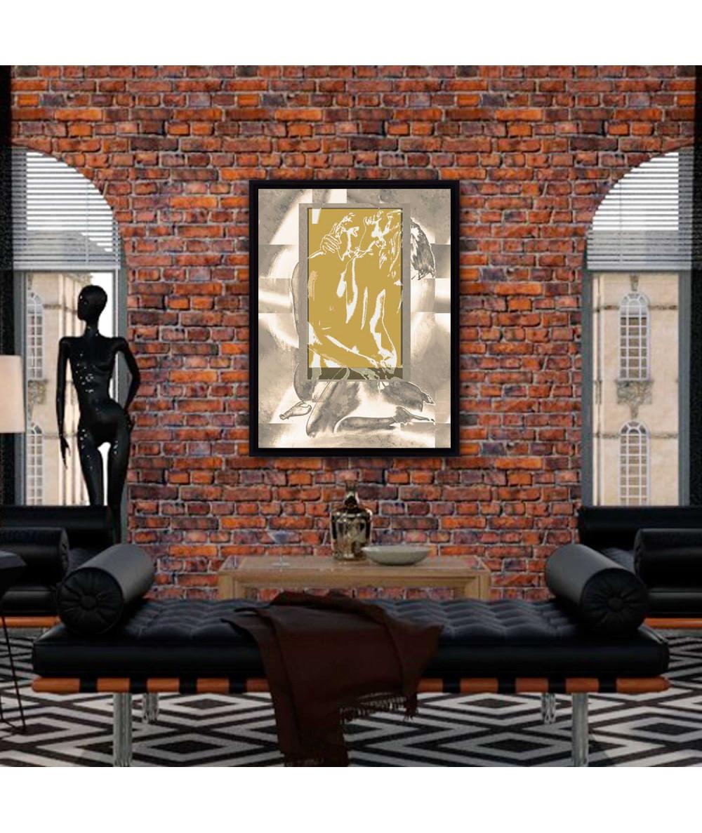 Obraz Złote okno uczuć (1-częściowy) pionowy