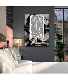 Obraz na płótnie Akt obraz Okno uczuć, obraz pionowy, grafika pionowa