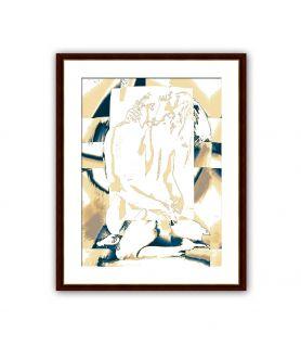 Obraz na płótnie Nowoczesny akt Światło uczuć (1-częściowy) pionowy