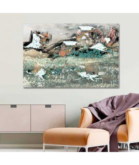 Obraz na płótnie Obraz lecące żurawie Pod niebem