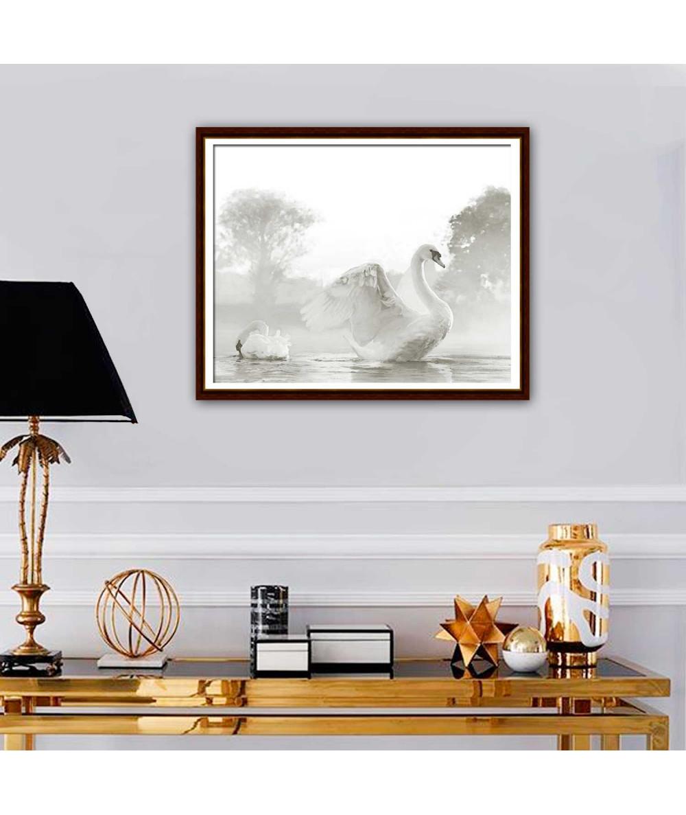 Obraz Piękne łabędzie (1-częściowy) szeroki