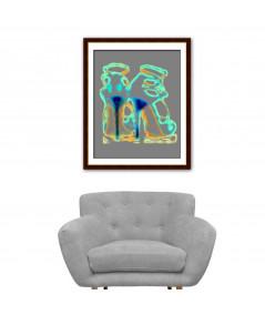 Obraz na płótnie Obraz Szpilki Jimmy art, szary obraz buty szpilki
