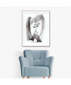 Obraz sztuka nowoczesna Pocałunek (pionowy)