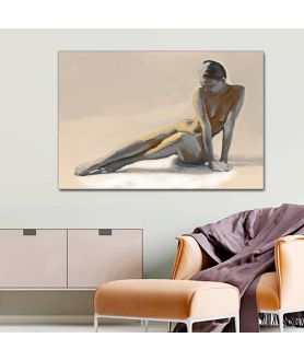 Obraz na płótnie Akt kobiecy obraz do sypialni Syrena (1-częściowy) szeroki
