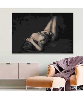 Obraz na płótnie Akty obrazy na ścianę do sypialni Ona i światło
