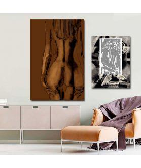 Obraz na płótnie Obraz z nagą kobietą Kobieta tyłem, obrazki do sypialni