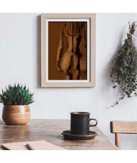 Obraz z nagą kobietą Kobieta tyłem (1-częściowy) pionowy